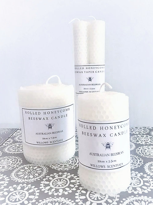 Hand rolled honeycomb Beeswax Candle (10cm x 5.5)