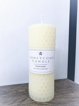 honeycomb beeswax candles