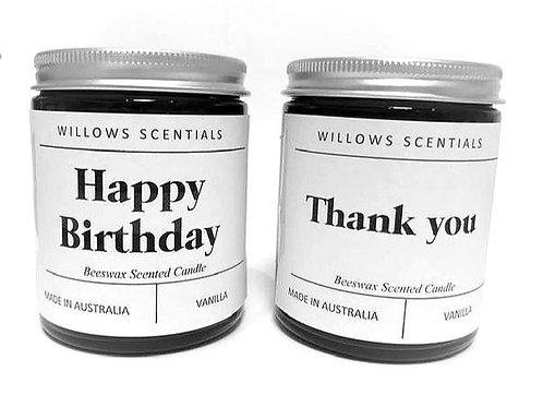 Personalised Scented Candle (Option 3)