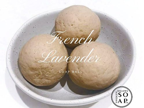 French Lavender Soap Ball ~ Olive Oil Soap