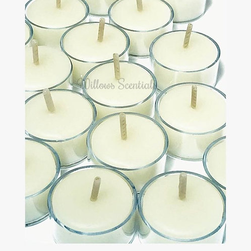 Beeswax Tealight Candles . 20 Pack  (clear cups)