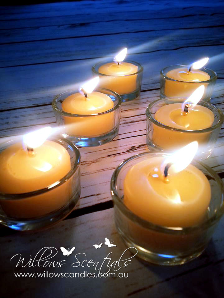 beeswax tealight candles 2