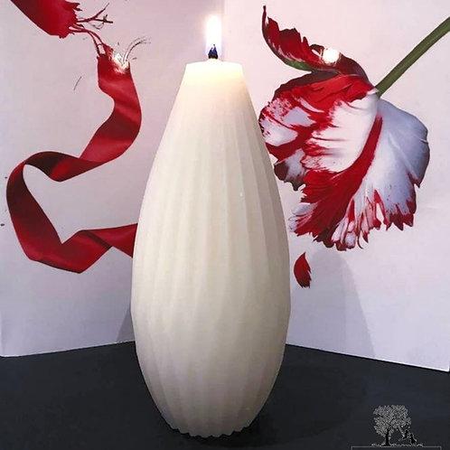 Elegant Pillar Beeswax Candle x 1