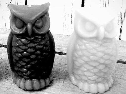 Owl Beeswax Candle 80g