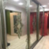 Зеркальные витражи с фацетами для шкафов-купе, изготовление на заказ в Липецке