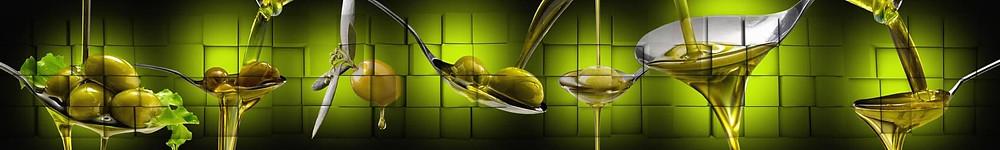 Изображение-коллаж с оливками на черном фоне