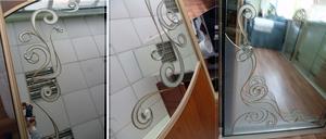 Зеркала с витражными узорами