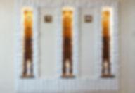 Витражи в нишах с подсветкой на заказ в Липецке, Авторские Витражи