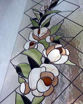 Плёночный витраж на рифлёном стекле
