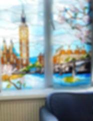 """Витраж для окна """"Набережная Лондона"""", Липецк"""