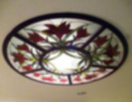 Изготовление витражей на стекле для круглых потолков. Мастерская Елены Швец