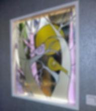 Витражная перегородка по мотивам картин американской художницы Sue Davis. Витражи Елены Швец, мастерская в Липецке