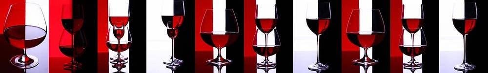 Контрастное красно-черно-белое изображение для кухонной панели