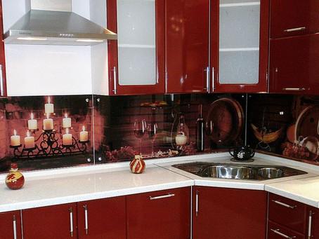 Кухонные фартуки из закалённого стекла (скинали)