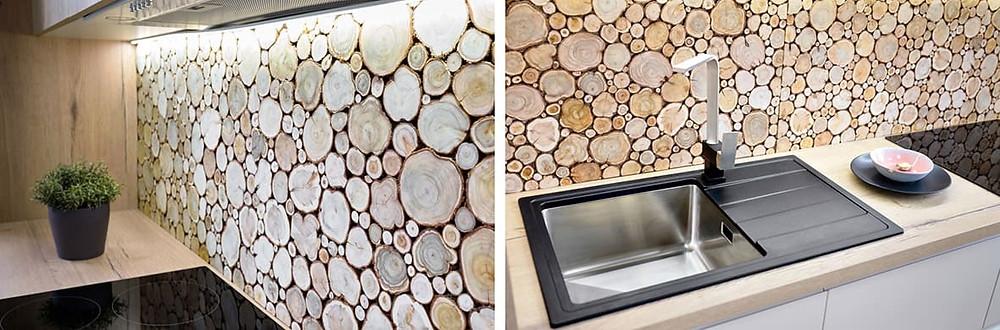 Стеновая панель в интерьере современной кухни