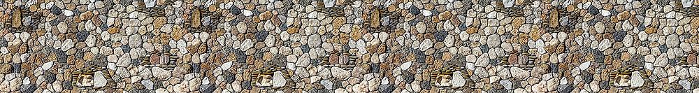 Изображение с речными камнями, панорама бесшовная