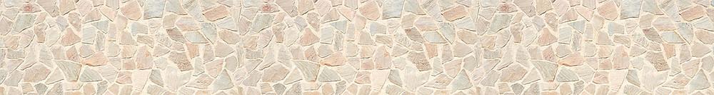 Изображение с камнями, панорама бесшовная с светло-бежевой гамме