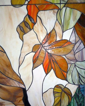 Витраж листья в технике тиффани