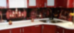 """Фартук для кухни """"Погребок"""", стекло с фотопечатью"""