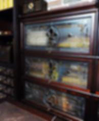 Витражи для мебели в кабинете, Витражи Елены Швец, Липецк