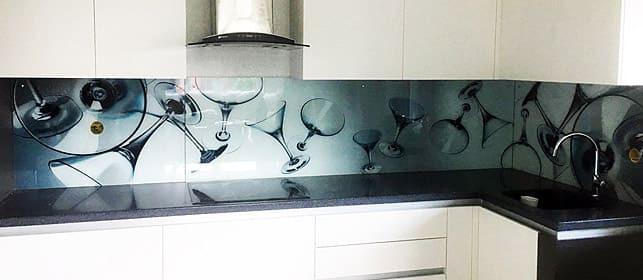 Фартук с фотопечатью для кухни в стиле Хай-тек