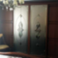 Фацетные витражи для шкафов-купе на зеркале
