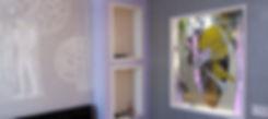 Витраж для проёма в перегородке между спальней и гардеробной, Липецк