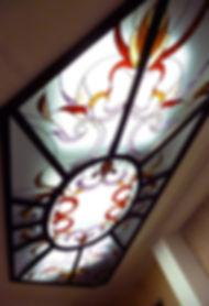 """Витраж на потолке в стиле """"Арт-деко"""". Разработка эксклюзивных витражей в Липецке"""