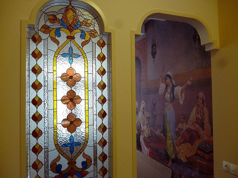 Витраж для кальянной комнаты в арабском стиле
