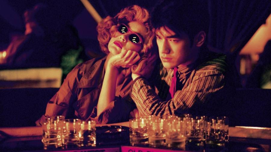 A scene from Chungking Express (1994) Faye Wong & Takeshi Kaneshiro
