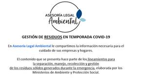 GESTIÓN DE RESIDUOS EN TEMPORADA COVID