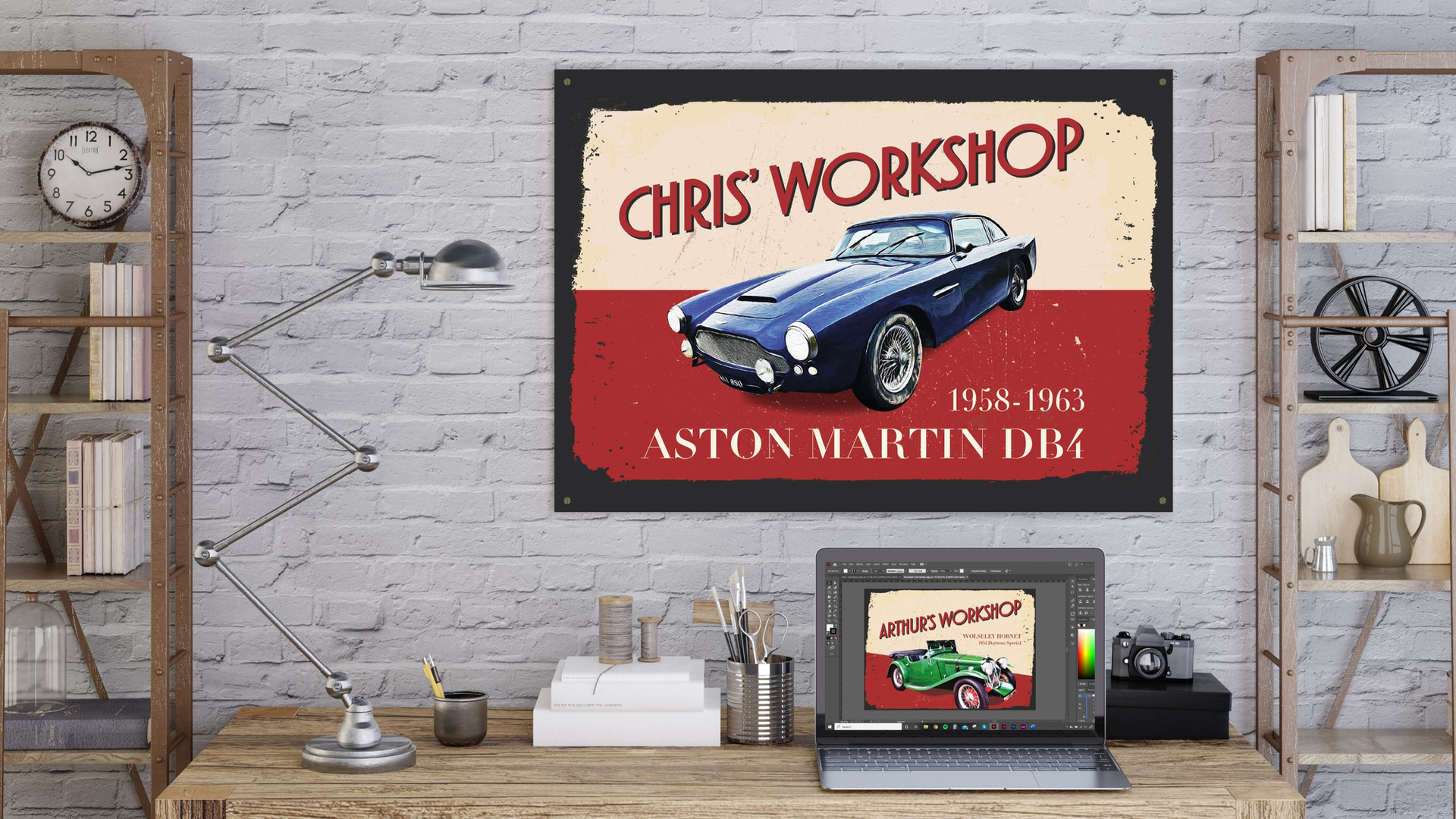 Personalised Workshop Sign