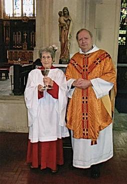 Mrs Doreen May & Fr Keith Hayden