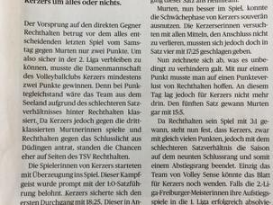 Matchbericht heute im Anzeiger von Kerzers