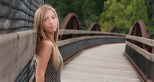 Senior photo taken on Gap Bridge