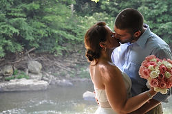 Wedding photos at Ohiopyle