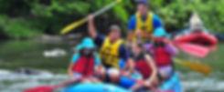 Family enjoying an Ohiopyle rafting tour