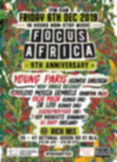 focus Africa 9th Anniversay A6 flyer fro