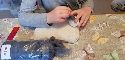 Kids needle felting workshop