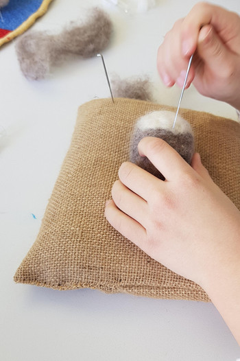 Needle felted kids parties
