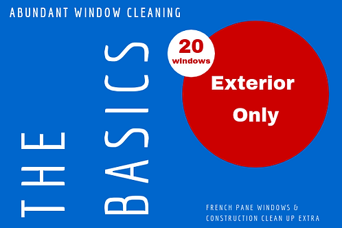 20 Windows Exterior Only