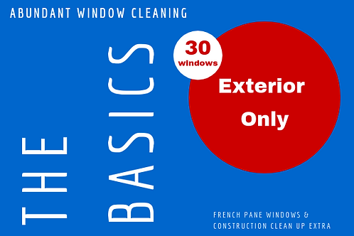 30 Windows Exterior Only