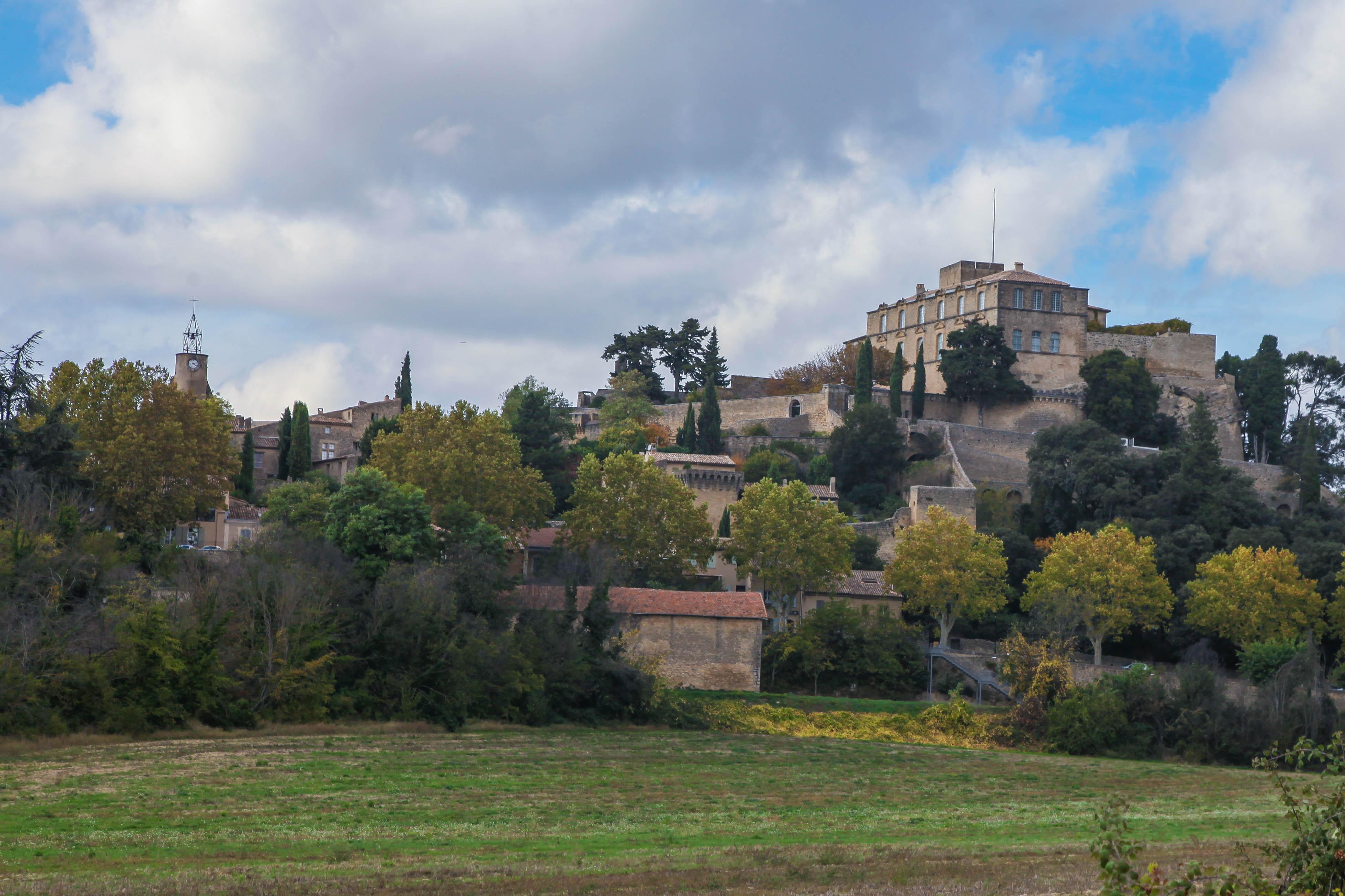 The hilltop village