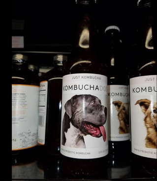 Looks who's featured on the Kombucha Dog bottles...
