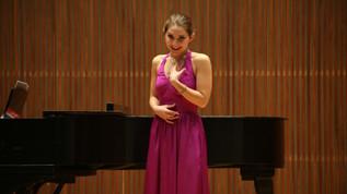 Amy's junior recital at Oberlin