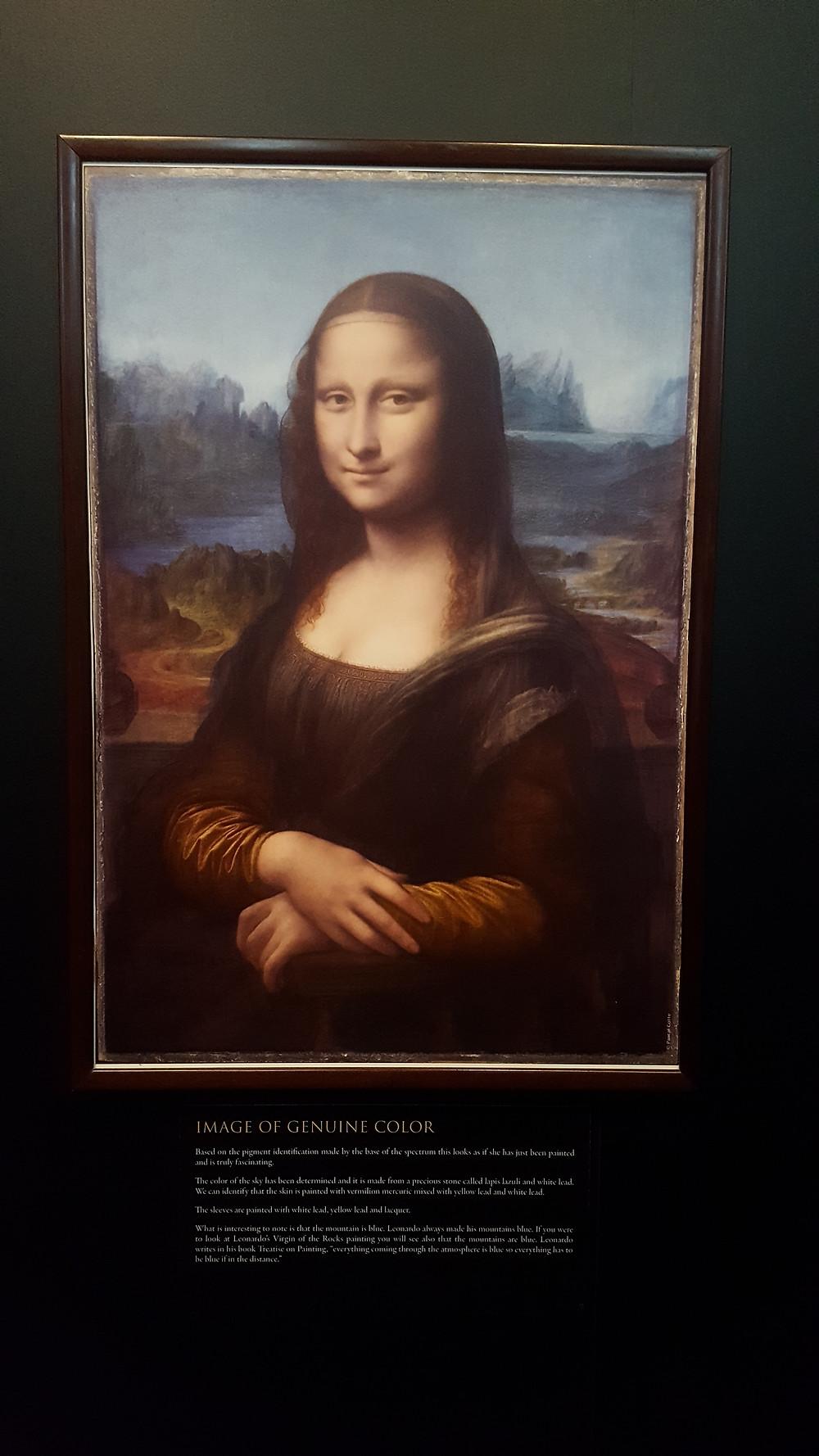 Color real de la Mona Lisa