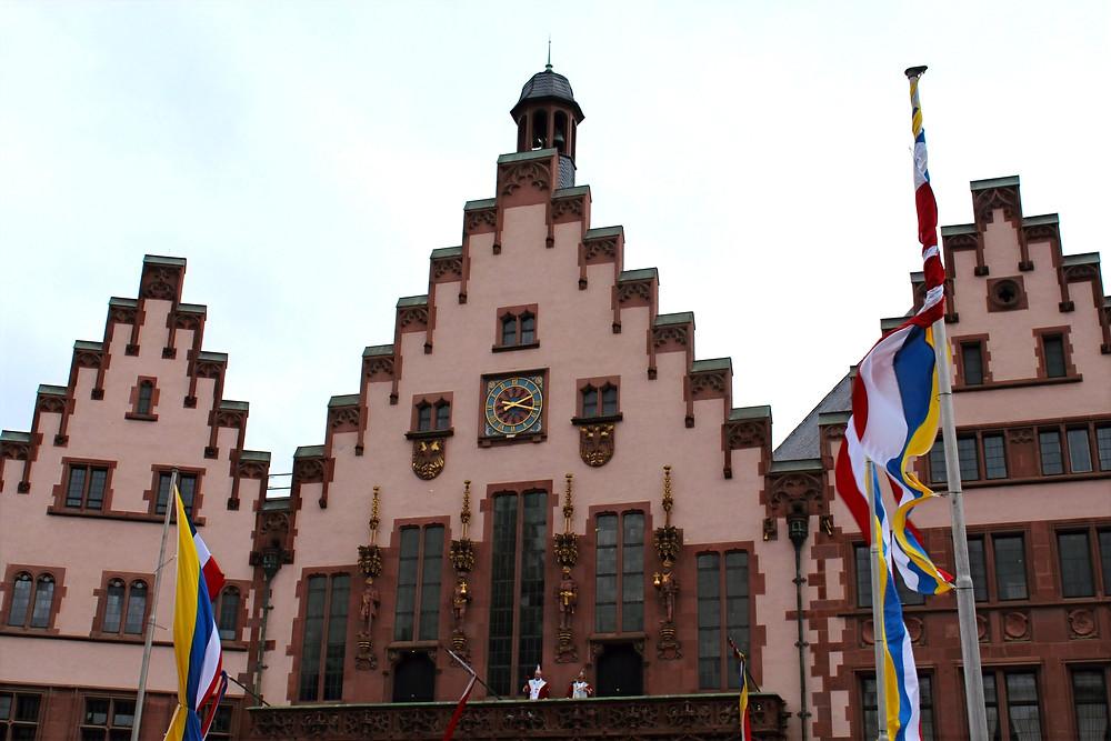 El edificio del Ayuntamiento de Frankfurt, Römer.