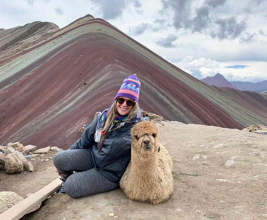 Viaje a las montañas de siete colores en Cusco, Perú.