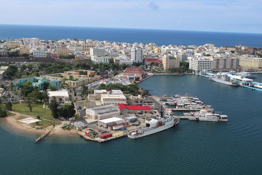 San Juan, Puerto Rico desde lo alto.