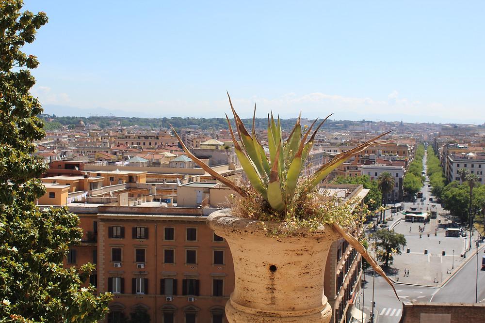 La ciudad italiana de Roma desde lo alto,